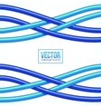 Blue crossing cables on white background vector image