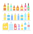 Bottle Set Design Flat Oil and Beverage vector image vector image