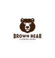 brown bear head mascot logo designs vector image vector image