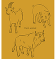 bull goat pig vector image vector image