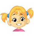 cartoon funny girl head vector image vector image