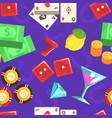 casino gambling seamless pattern game chance vector image