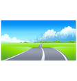 City Skyline Road vector image