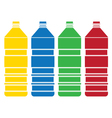 colored bottle set vector image vector image