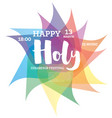 colorful happy holi background vector image