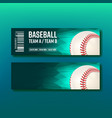 Colorful ticket visit baseball template