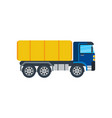 commercial truck isolated icon vector image vector image