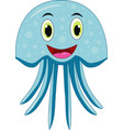 cute jellyfish cartoon vector image vector image
