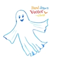 Cute smiling ghost vector image vector image