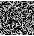 damask teardrop black ornament seamless pattern vector image vector image