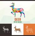 deer animal with polygonal geometric style vector image
