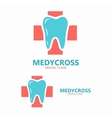 Dentist tooth logo design template vector image