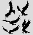 Eagle Flying Silhouette vector image vector image
