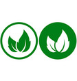 eco icons with leaf vector image vector image