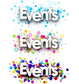 Events colour banners vector image