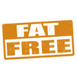 fat free grunge rubber stamp vector image vector image