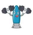 fitness iron board character cartoon vector image vector image
