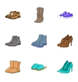 Foot protection icons set cartoon style vector image