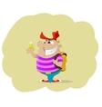 Fun cartoon holding money vector image vector image