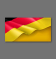 germany patriotic festive horizontal banner vector image vector image