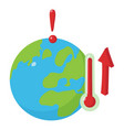 global warming icon isometric style vector image vector image