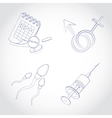 Gynecology icon set vector image