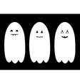 Halloween ghost set vector image vector image