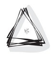 hand drawn sketched triangle vector image vector image