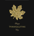 happy thanks giving golden dust dark square vector image