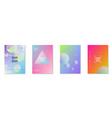 holographic cover set with radial fluid vector image vector image