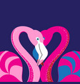 in love with a flamingo vector image vector image
