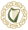 ireland harp musical instrument on vector image