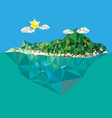 Island with mountain low poly style vector image vector image
