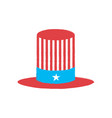 isolated american party hat vector image vector image