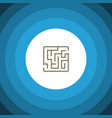 isolated maze flat icon labyrinth element vector image vector image
