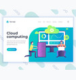 landing page template cloud computing concept with vector image