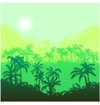 landscape with palm trees vector image vector image