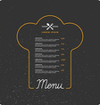 Llinear background for restaurant menu vector image