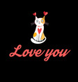 lover cat vector image vector image
