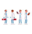 male doctor standing pose vector image