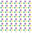 Mardi Gras Carnival seamless pattern with fleur-de vector image vector image