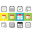 meeting deadlines icon set vector image vector image