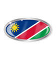 namibia flag oval button vector image vector image