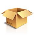 object cardboard box vector image vector image
