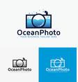 ocean photography logo design vector image vector image