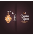 Ramadan kareem greeting card design background