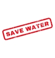 Save Water Rubber Stamp vector image vector image