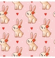 seamless pattern with cute vector image vector image