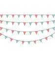 set decorative party pennants with different vector image