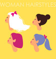 set of female hairdo women avatars with different vector image vector image